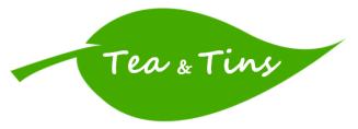 Tea and Tins logo - white - cropped
